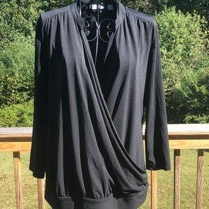 Tops - Women's Black Surplice Blouse Size M